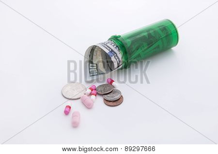 Concept Of High Cost Medication.