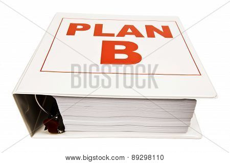 PLAN B Binder Isolated On White