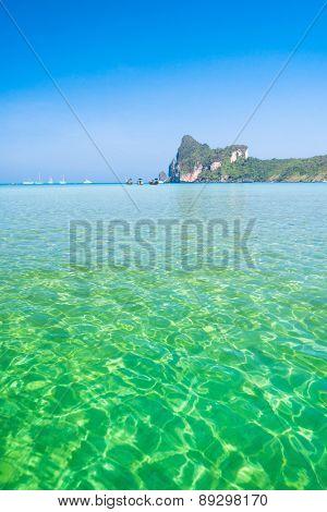 Ocean Panorama Horizon Rocks