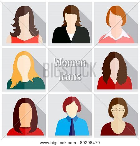 Women Icons vector