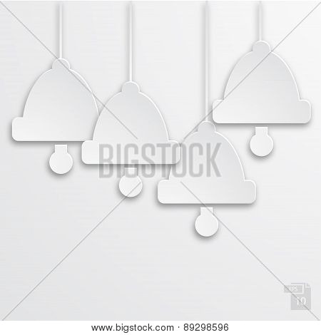 Vector modern white bells background.