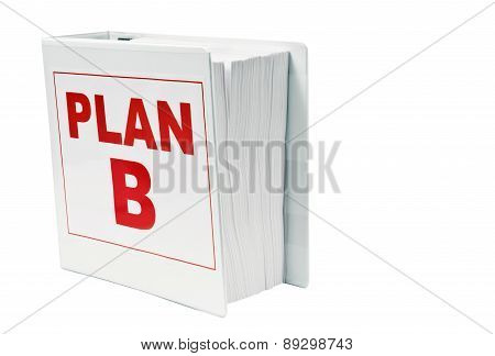 PLAN B Book With Copy Space