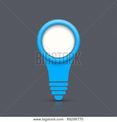 Vector modern light bulb background.