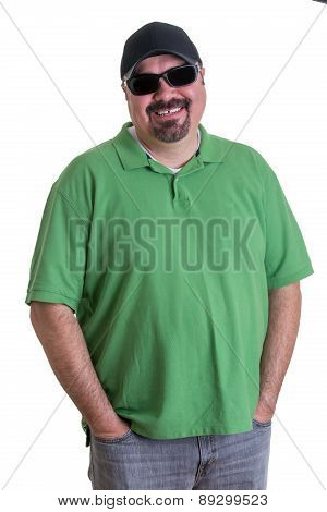 Man Wearing Sunglasses With Hands In Pockets
