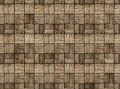 Постер, плакат: Wooden Patio In Parquet Style With Alternating Woodgrain