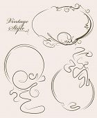 stock photo of oval  - Beautiful collection of oval frames - JPG