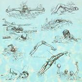 pic of breast-stroke  - SWIMMING and Water Sports - JPG