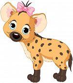 foto of hyenas  - Illustration of very cute Hyena cub - JPG
