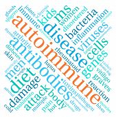 pic of endocrine  - Autoimmune word cloud on a white background - JPG