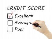 foto of trustworthiness  - credit score survey written by man - JPG