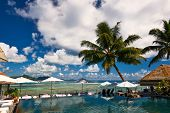 image of jetties  - Luxury poolside jetty at Seychelles - JPG