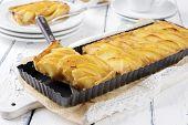 stock photo of tarts  - Quince Tart - JPG