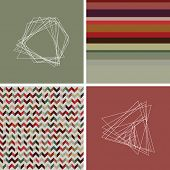 picture of decoupage  - geometric colorful retro vintage cute fashion background with hipster icons seamless patterns - JPG