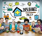 image of insurance-policy  - Insurance Policy Help Legal Care Trust Protection Protection Concept - JPG