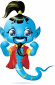 stock photo of genie  - beautiful genie from the magic lamp on a white background - JPG
