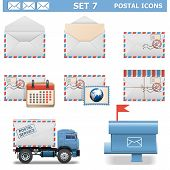 picture of mailbox  - Postal Icons Set 7 including truck - JPG