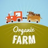 foto of tractor trailer  - Organic Farm poster - JPG