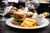 picture of french fries  - Sandwich with fried eggs - JPG