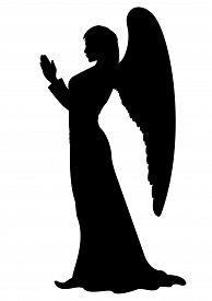 foto of pray  - Praying figure of a female Angel like a statue - JPG