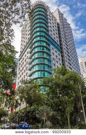 Modern City Block In Kuala Lumpur