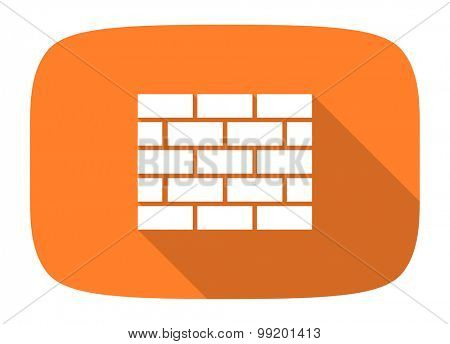 firewall flat design modern icon with long shadow for web and mobile app