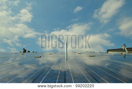 PV plant with boiler-exhaust pipe