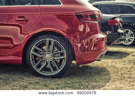 Sleza, Poland, August 15, 2015: Close Up On Audi Car On  Motorclassic Show On August 15, 2015 In The