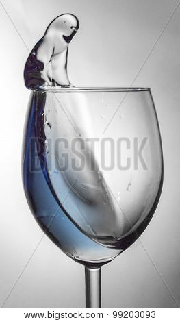 Wine Glass Fluid Motion
