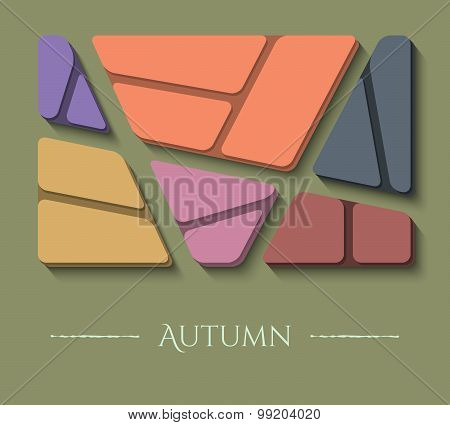 Unusual Autumn Illustration Of Modern Colors And Material Design. Abstract Colored Background.