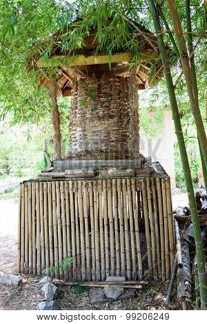 Traditional Granary Which Made Of Bamboo, Used For Storing Paddy After Winnowing.