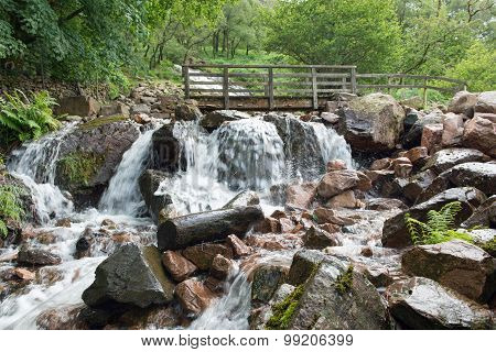 Sourmilk Gill Waterfall at Buttermere Lake