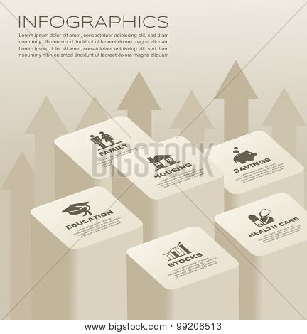 Vector illustration of Infographic design element
