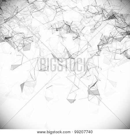 Abstract white technology vector background.