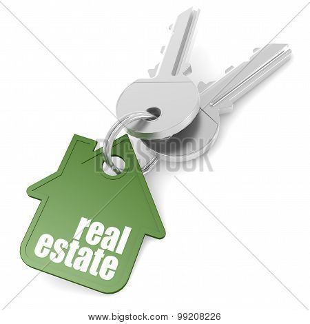 Keychain With Real Estate Word