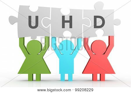 Uhd - User Help Desk Puzzle In A Line