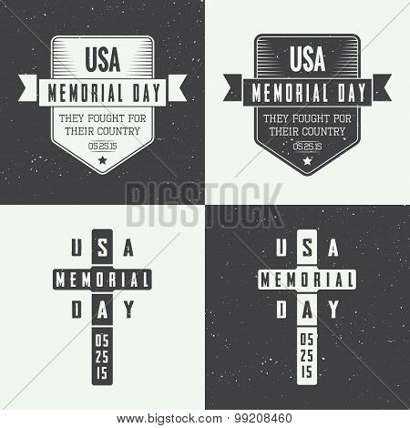 Memorial Day Logo Set