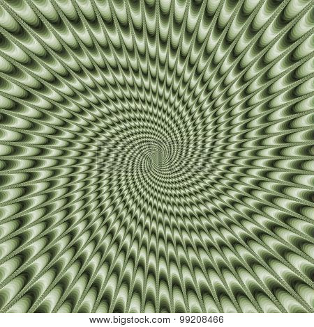 Dizzy Swirl In Green