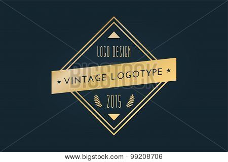 Vintage old style shield logo icon template