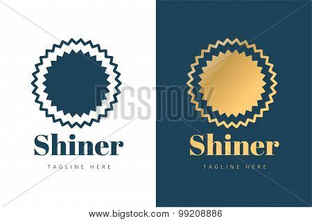 Abstarct sun logo icon template