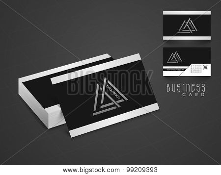 Stylish professional business or visiting card design with two sided presentation.