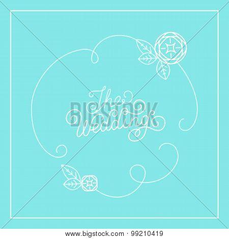 Vector Wedding Card Design