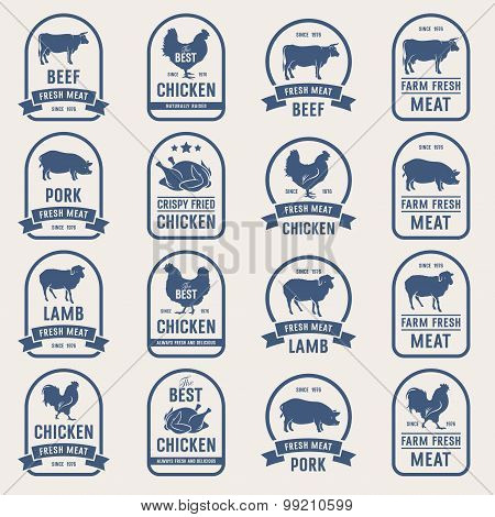 Big Set Of Meat Labels 001
