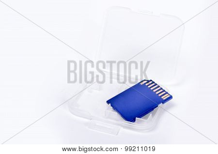 Media Card Isolated On White Background Closeup