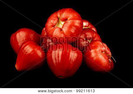 Water Apples Or Jambu Air On Black Background