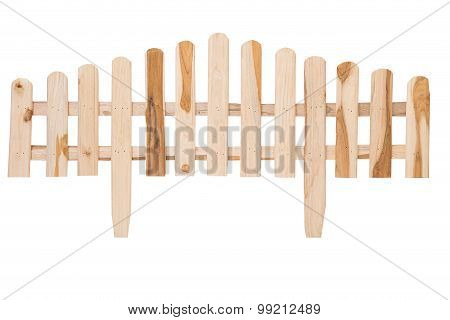 Handmade Wooden Fence Isolated