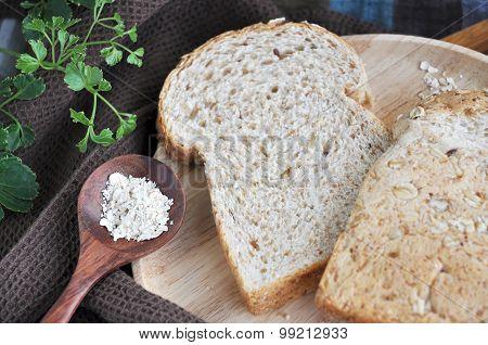 Close Up Wheat Bread