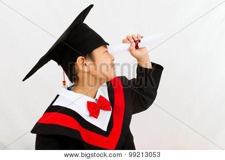 Chinese Graduation Boy Finding A Job