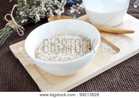 Oatmeal Bowl On Tray