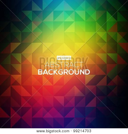 Abstract bright background with triangles. Modern geometrical abstract background