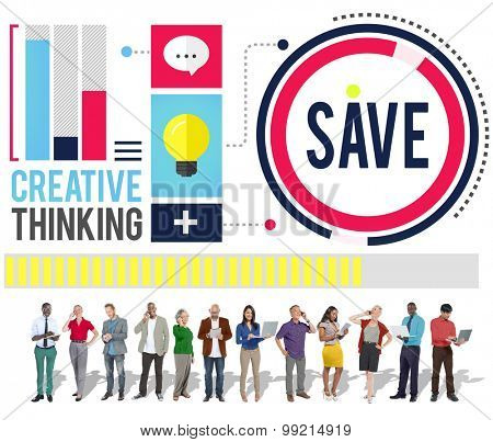 Save Creative Thinking Graphic Concept